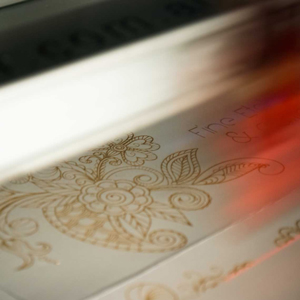 Laser Engraved Floral Design On Fine Paper